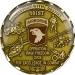101st Airborne Division (Air Assault), 2003 Combat Coin, Type 1