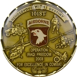 101st Airborne Division (Air Assault), 2003 Combat Coin, Type 3